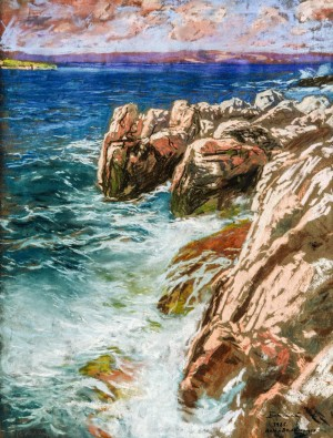 The Sea, 1925, pastel on paper, 64x48