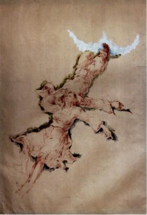 Етюд до картини Сон полонини, 1940, пап.т., 90х60