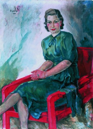 Woman`s portrait in the red armchair, 1939