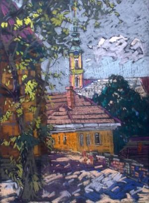 Szentendre, pastel on cardboard, 64x50