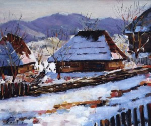 Huts In Lykytsary Village, 1959, 50x60