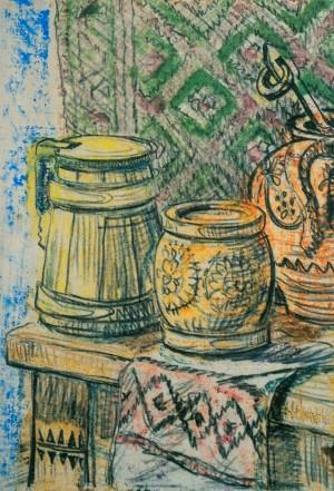Натюрморт. Гуцульський ящик 1962 р. пап.монот. 36х24