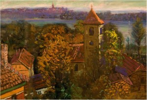Serbian Church In Summer, 1979, oil on canvas, 76x95