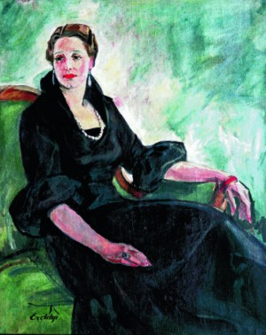Portrait of the unknown woman  in black, 1930