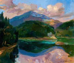 Синевирське озеро, 2006, п.о., 50х60