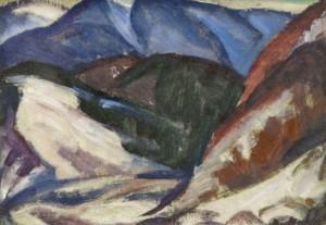Волівецькі схили, (Етюд), 1983, орг.о. 25,5х33,5