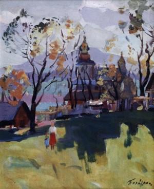 Церковний етюд, 1983, 50x40