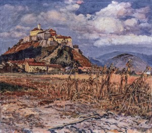 Mukachevo Castle, 1940, oil on canvas, 80x90