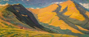 Mount Petros, 1960, oil on canvas, 71,5х160,5
