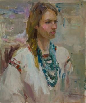 Iryna Shevtsova. Portrait. 2017. 50х60
