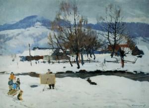 Околиця села, 1955, п.о. 60х80