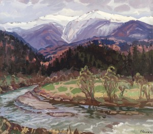 Mount Pikui, 2003, oil on canvas, 75x90