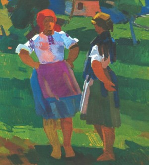 Neighbours, 1972, oil on canvas, 110х98,5