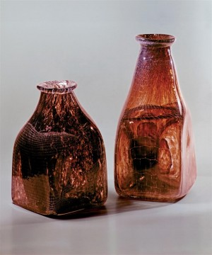 Decorative Composition Variations, 1980, colored glass, gut technique