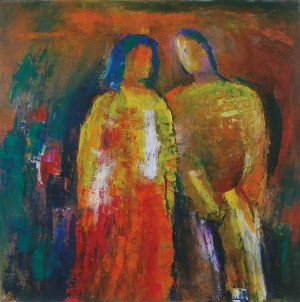 Сouple, 2011, oil on canvas, 70x70