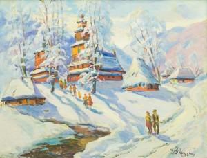 Winter On Verkhovyna, 1970s, oil on canvas, 65,5x85,5