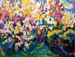 'Blooming Garden', 2009, oil on canvas, 115x150