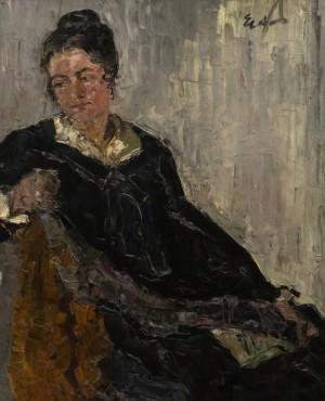 Portrait of A Sitting Woman, 1925-1930, oil on cardboard