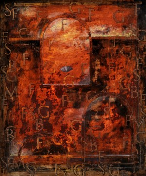 Windy Garden, 1995, oil on canvas, 55x46