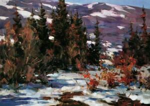 Зимовий пейзаж, 70х95