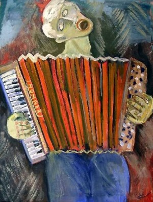 Lonely accordion