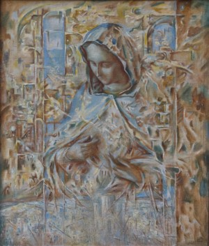 Mariia. Restoration, 2000, oil on canvas, 80x68