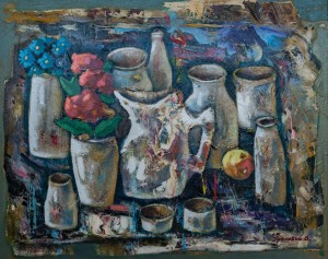 'Still Life With White Dishes'