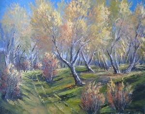 Golden Autumn In Birch Grove, 2014