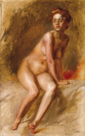 Дівчина з рудим волоссям, дошка.о., 54х34