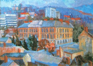 Knowledge Centre  oil on canvas