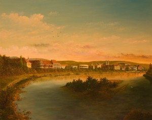 View Of Uzhhorod  From The Bridge, 2007, oil on canvas, 75x95
