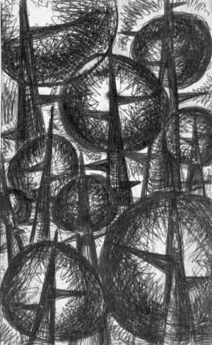 Корж Б. 'Колючки і бульбашки', 1973