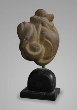 Переплетення, 1999, пісковик-габро, 28х12х15
