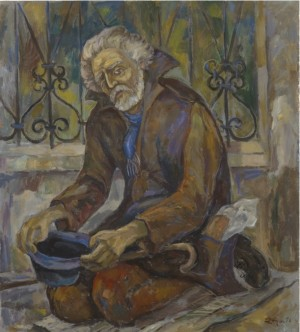 A Beggar, oil on canvas, 81х90