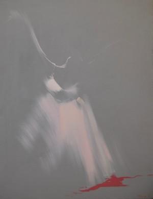 Harmony in Grey 2013 acrylic on canvas 110x85.