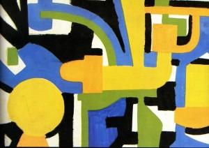Проект декоративної перегородки, 2005, кар. гуаш.