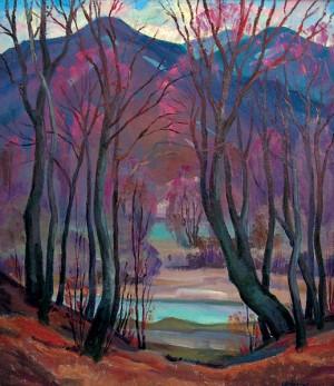 Потічок-ріка Віола, 1993, к.о., 60х70