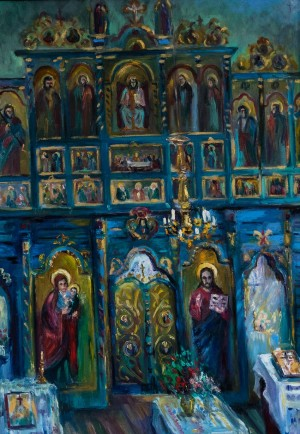 'The Iconostasis of church of the XVIII century, Huklyve village of Volovets District'