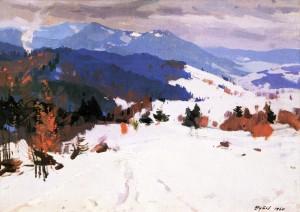 Зима, 1960, п.о., 73х100