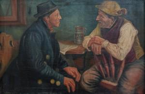 S. Silvai Genre Scene', oil on canvas