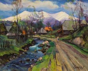 Гірське село, 1995, 70х85