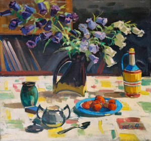 Still Life With Bells, 1967, oil on canvas, 85x90