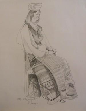'Palanga', 1986, pencil on paper, 63x49