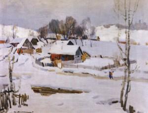 Околиця села, кін. 1950-х, п.о. 80х100