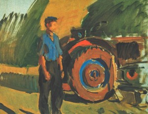 A Tractor Driver, 1964, oil on canvas, 50х64,5