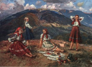 On Polonyna,1961, oil on canvas, 110x160