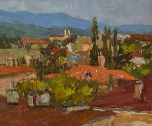 Zlata Shyshman. Cityscape. 2017. 50х60