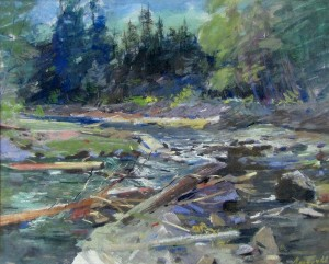 Stream, pastel on paper, 46x55