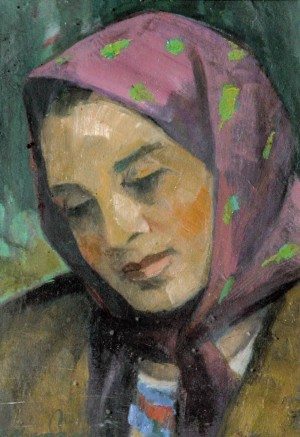 A girl from Verkhovyna. (A sketch to the painting Friends), 2000