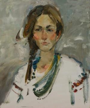 Шлапак Альона. Портрет, 2017, 50х60